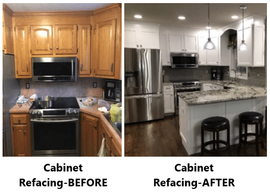 Nu-Face Home Improvement, LLC in Southington uses high quality, wood materials for cabinet refacing as well as the more common Thermofoil option.
