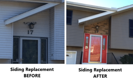 Nuface Home Improvement Ct Siding Replacement Before After